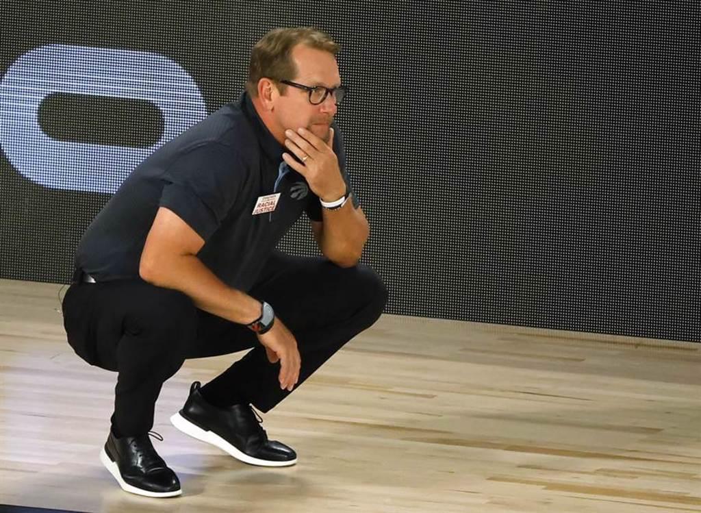 暴龍主帥納斯獲選年度最佳總教練,這是他執教NBA球隊第2季。(美聯社資料照)