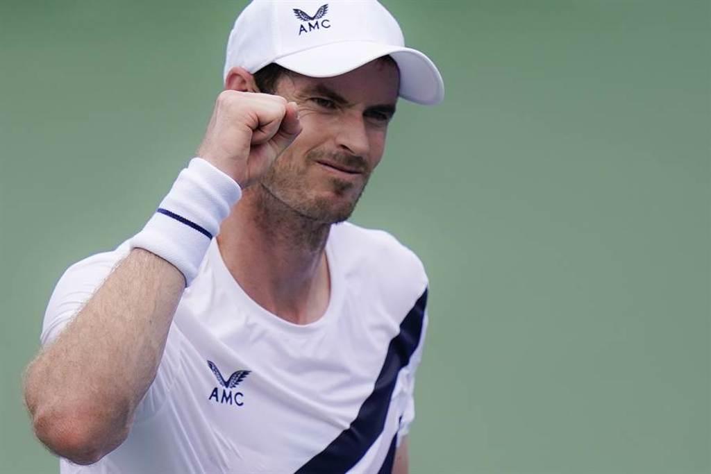 莫瑞重返ATP賽場,首戰收下勝利。(美聯社)