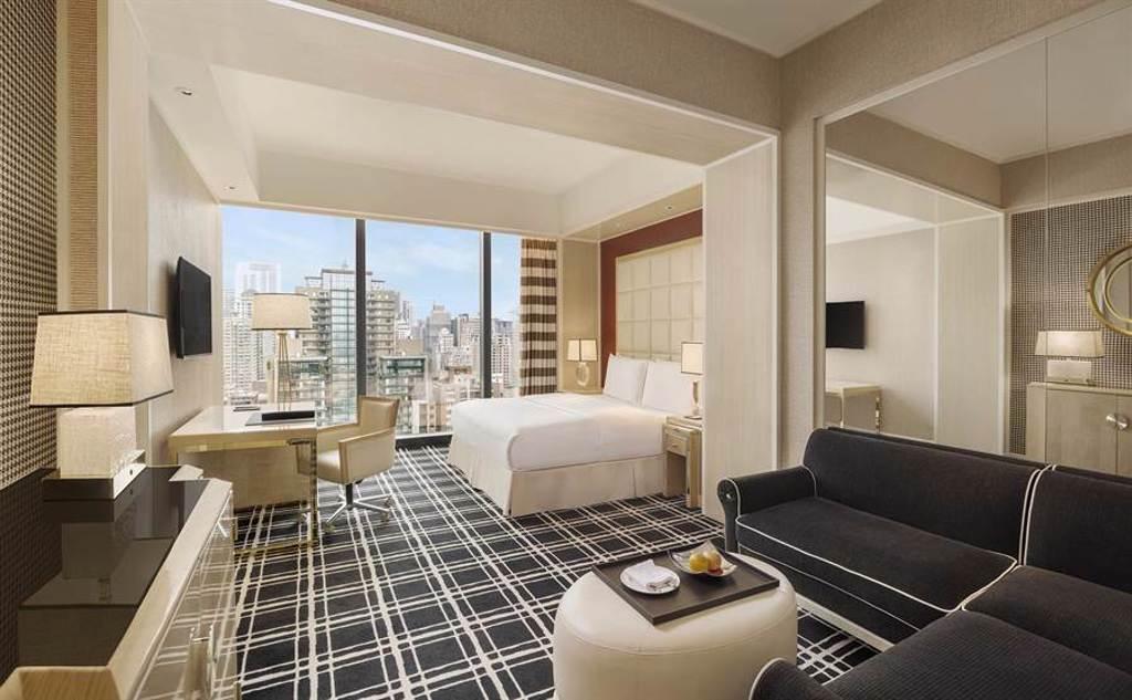 台中林酒店「行政豪華客房」。(台中林酒店提供)