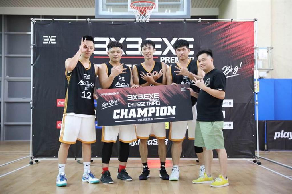 新竹COOL A首次奪下3X3.EXE聯盟賽北區單站冠軍。(3X3.EXE提供)