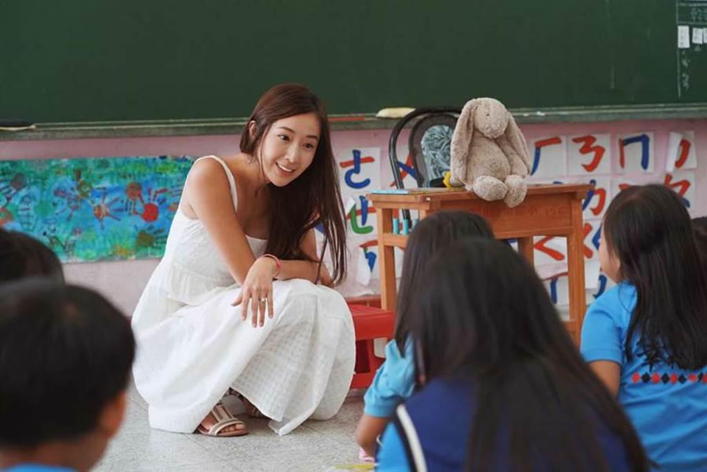 隋棠日前再度分享擔任「蝴蝶朵朵」講師時,遇到兒童被侵犯案例。(取自隋棠臉書)