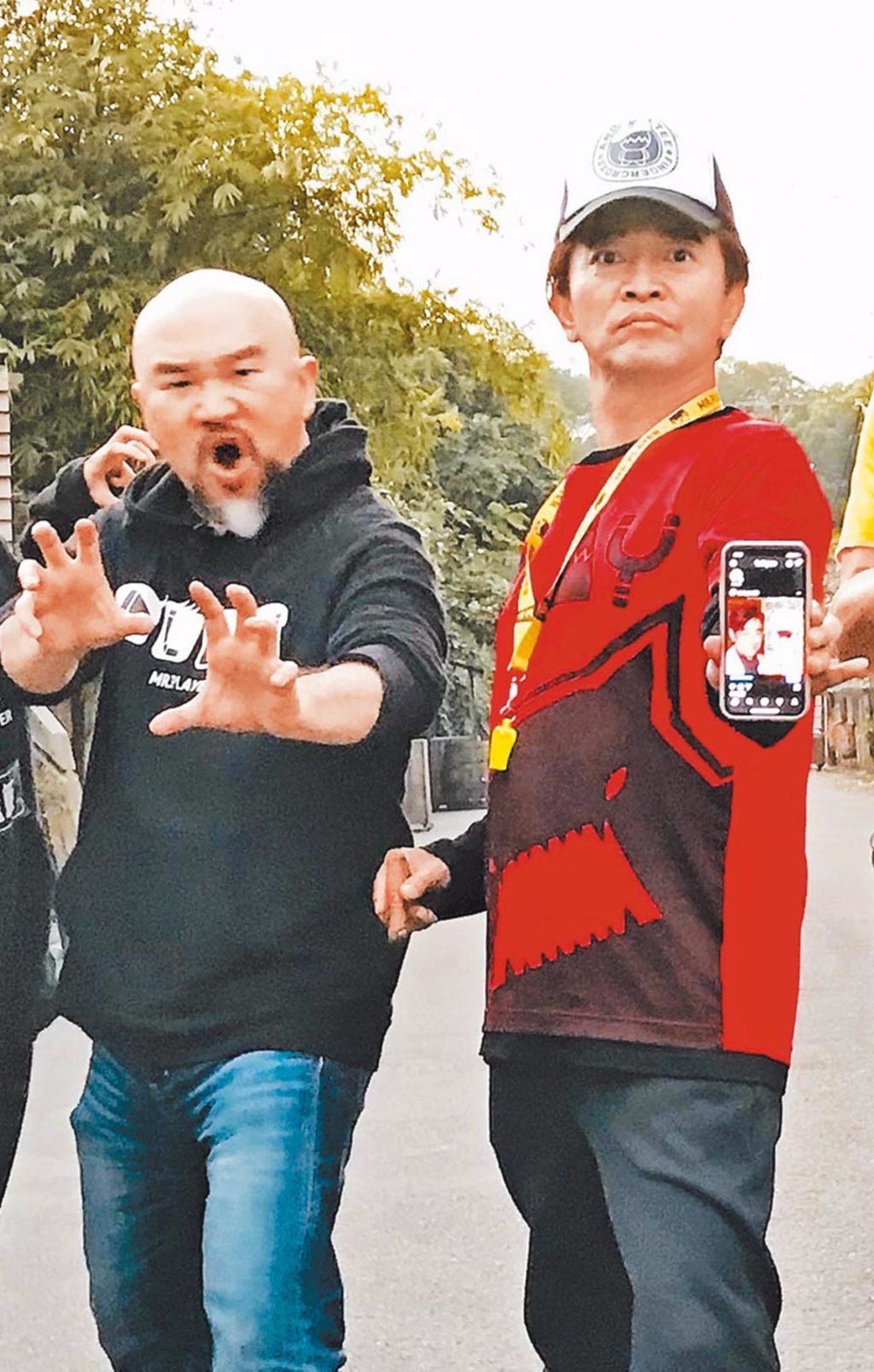 吳宗憲(右)昨談辛龍,一番話意有所指。(資料照片)