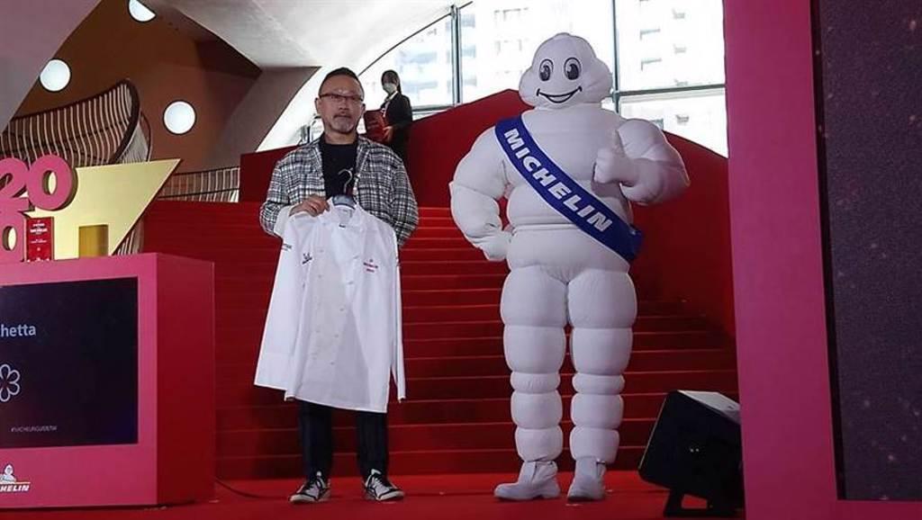 Forchetta餐廳主廚曾士弘今日榮獲「台北台中米其林指南2020」一星殊榮。(圖/曾麗芳)