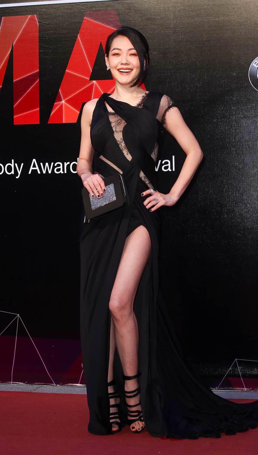 2015年6月27日台北/第26屆流行音樂金曲獎星光大道,圖為小S徐熙娣。(影視攝影組攝)