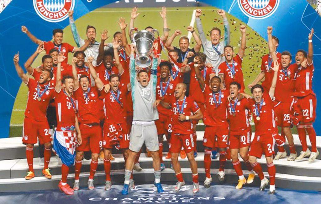 拜仁慕尼黑擊敗巴黎聖日耳曼,以11連勝的完美紀錄封王,寫下歐冠歷史。(美聯社)