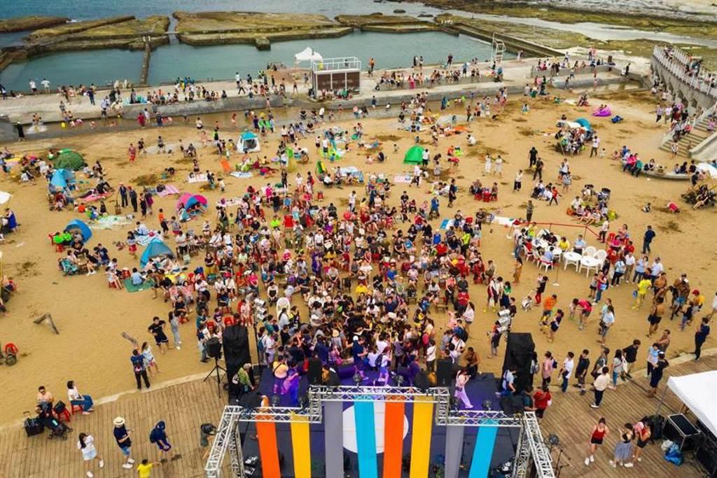 基隆和平島大地音樂祭29日登場,現場有吃有玩又免費入園。(北觀處提供/吳康瑋基隆傳真)