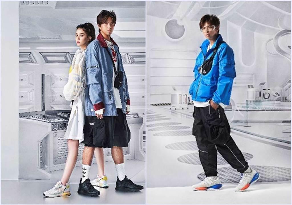「小鬼」黃鴻升展現ZX百搭潮流圈 AES與吉豐重工聯手成時尚焦點。(圖/品牌提供)