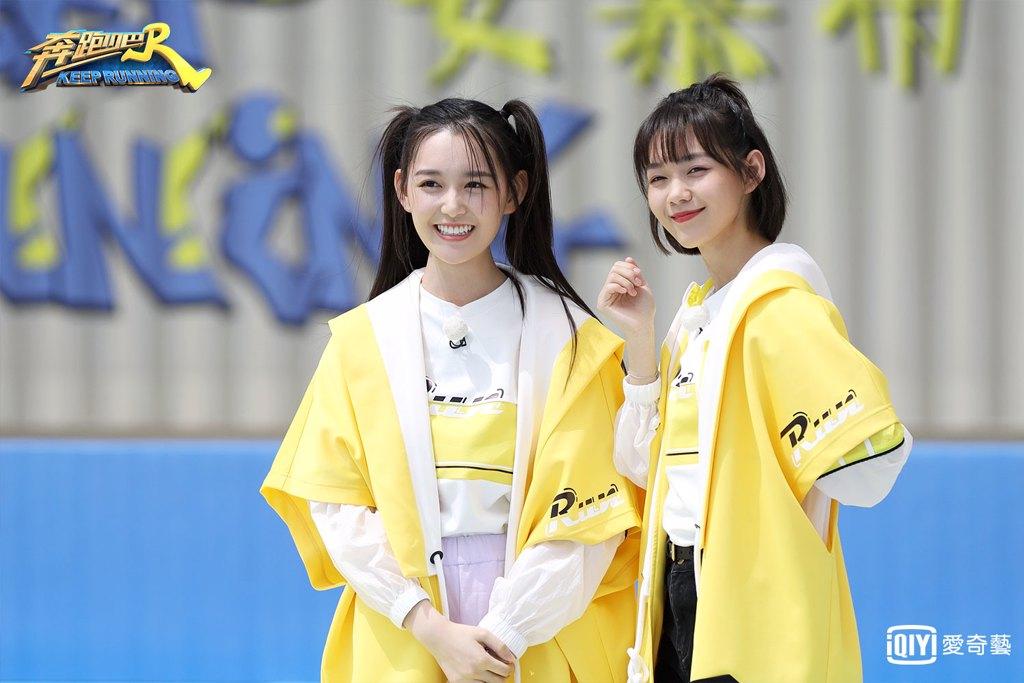 《奔跑吧4》來賓蔣依依(左)、段奧娟(右),愛奇藝提供