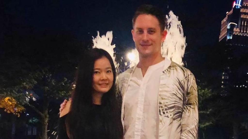 馬丁和前妻Shanon8年夫妻緣盡。(圖/FB@ Martin Ferm - 方馬丁)