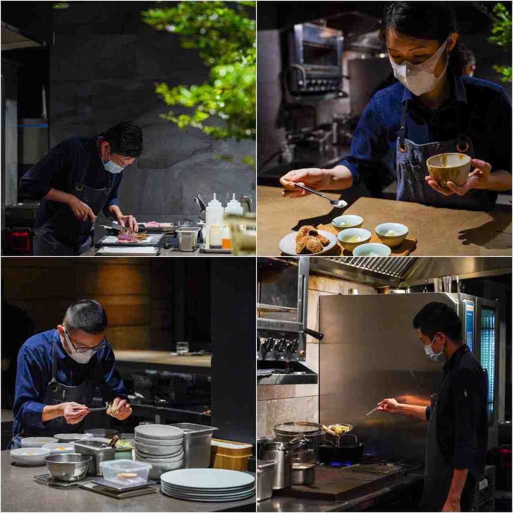 ▲開放式的廚房與吧檯設計,讓團隊的備餐狀態一目了然,這也是在Logy用餐的獨特體驗。