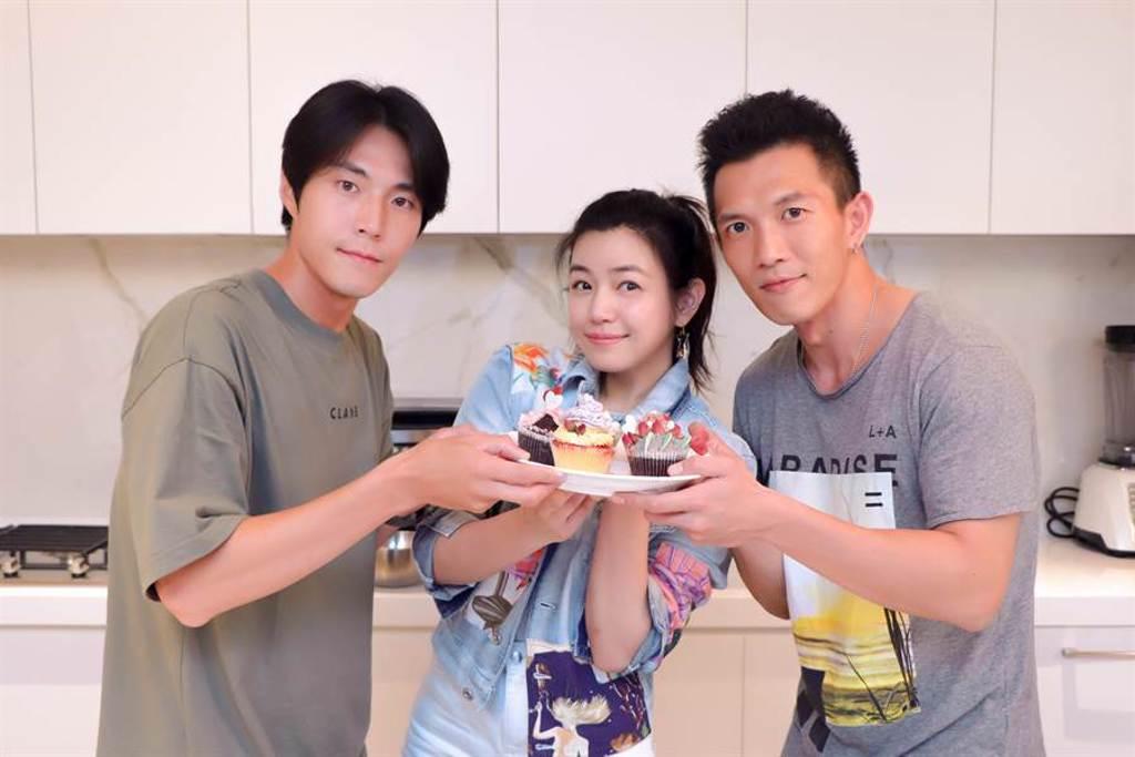 「織女隊」成員唐振剛(左起)、陳妍希、黃尚禾。(祖與占影像製作提供)