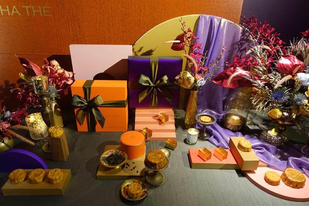 和逸飯店與慕軒飯店攜手台灣茶品牌CHA CHA THÉ聯名推出「和逸掬月禮盒」和「慕軒梓月禮盒」,9月1日前預購享88折早鳥價。(黃采薇攝)