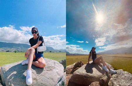 小禎漂亮女兒長大了 13歲就有逆天長腿跟媽媽「快一樣高」