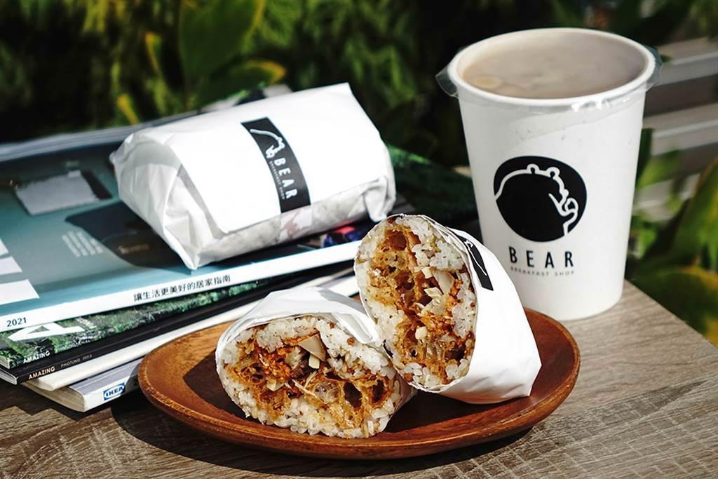 熊熊本丸使用台梗九號米、有產銷履歷的安心菜脯等食材。(攝影/曾信耀)