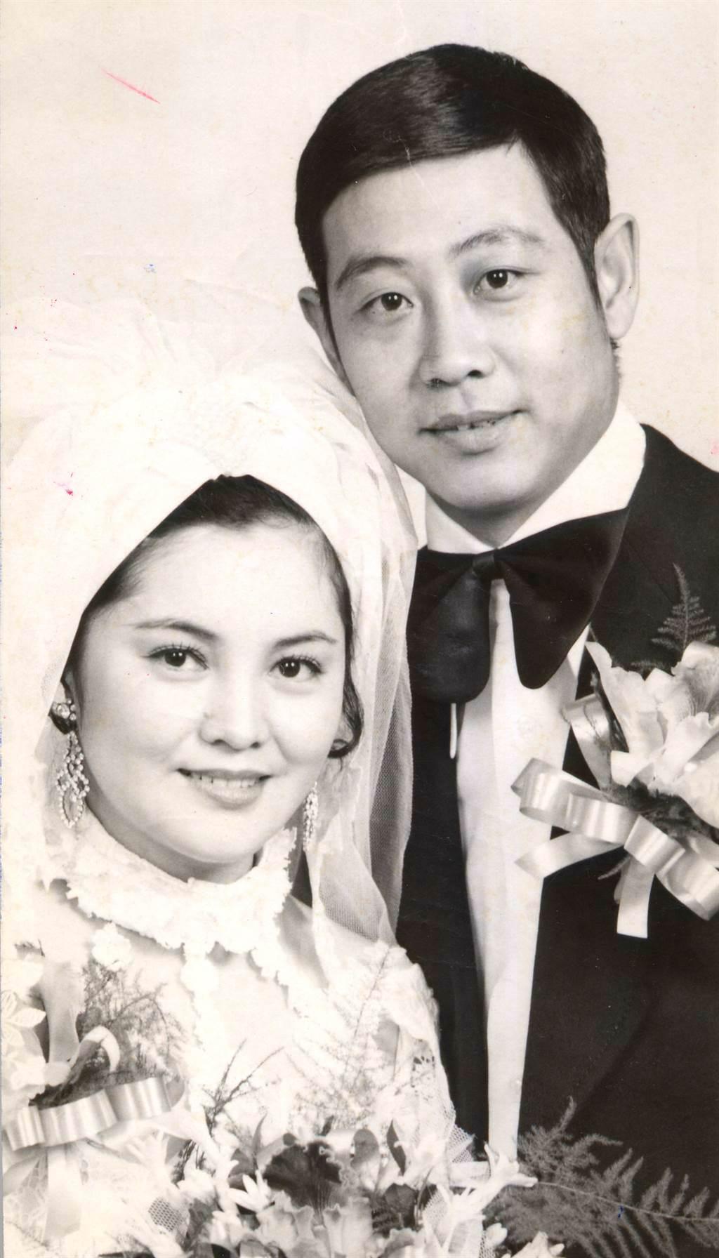 孔蘭薰與劉長鳴的結婚照。(圖/中時資料照)