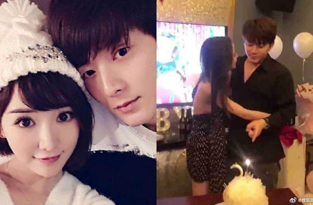 陳翔過去跟毛曉彤交往,最近被拍幫女網紅慶生。(圖/翻攝自搜狐娛樂微博)
