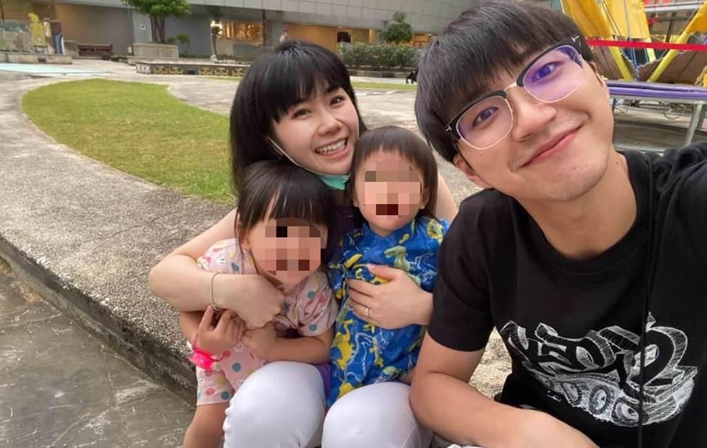福原愛和江宏傑婚後育有一對子女。(圖/FB@江宏傑)