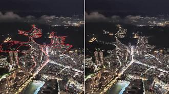 台北101觀景台 眺望大台北夜空,發現了一頭「遠古神獸噴火龍」!