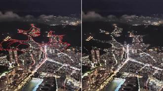 台北101觀景台 眺望大台北夜空 發現了一頭「遠古神獸噴火龍」
