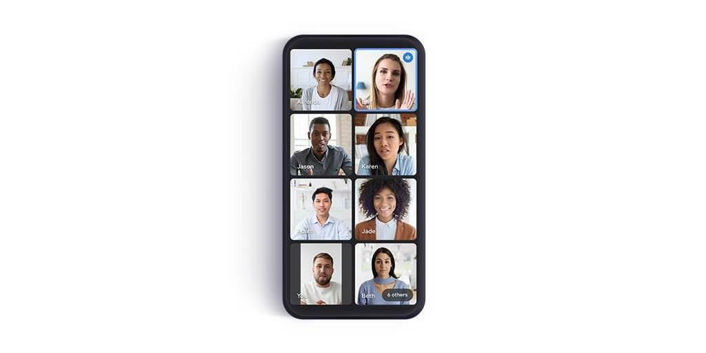 慣用Google Meet開線上會議嗎?如今手機版也將支援Grid View(網格視圖),能更清處的看見與會者以及發言者。(摘自Twitter)