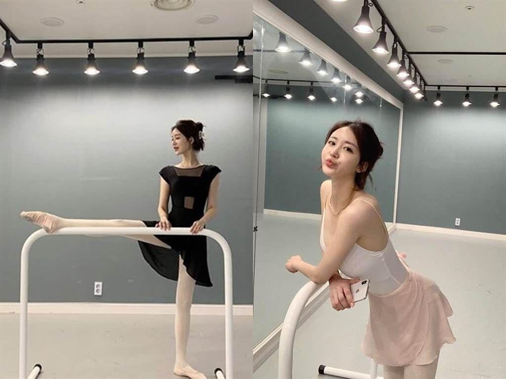 羽墨擅長跳舞,體態相當優美。(圖/Twitter @ YUM01994)
