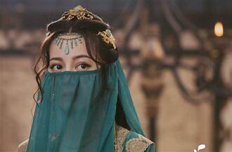迪麗熱巴《長歌行》終於穿女裝了 面紗藏不住美顏 大眼狂放電