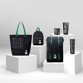 星巴克聯名Herschel Supply Co  回收咖啡渣製包袋