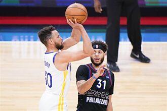 NBA》單場10顆三分球 柯瑞率勇士客場踢翻七六人