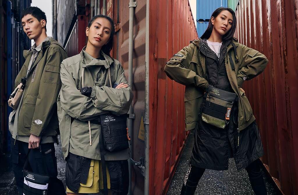 PALLADIUM本季以城市機能軍風推出春夏服飾配件重點單品。(圖/品牌提供)