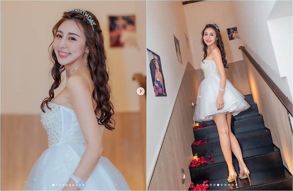 Rita日前過30歲生日,打扮得猶如小公主般,甜美誘人。(取材自love_ritakao IG)