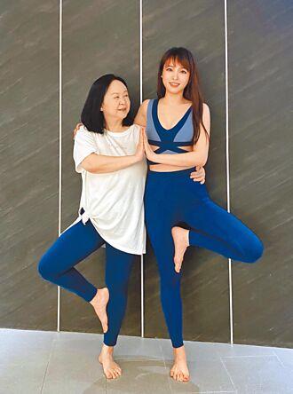 朱蕾安調體態求好孕帶媽媽做瑜伽健身