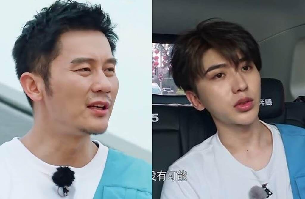 李晨和蔡徐坤被指脫妝後變得暗沉憔悴。(圖/翻攝自東網)