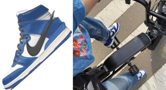 不跟你諜照,AMBUSH 闆娘直接上腳!Nike Dunk High 聯名海軍藍準備要開售了嗎?清爽配色完全就是夏日必敗!