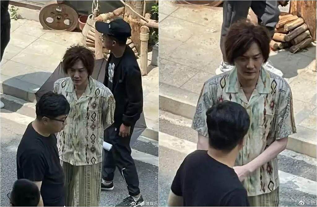 馮紹峰日前被拍到暴瘦照。(圖/取材自新浪娛樂微博)