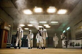 因應新冠肺炎疫情 化學兵持續在北市捷運站消毒