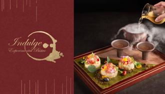 全球五十大、亞洲五十大酒吧「INDULGE Bistro」用微醺的一抹紅為台灣妝點,用台灣的好食材寵愛你的味蕾,來場酒精與美食的小小夢幻實驗吧!
