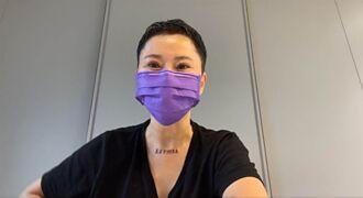 詹雅雯抱病剃髮開直播:我很憔悴 驚見鎖骨刺青有洋蔥