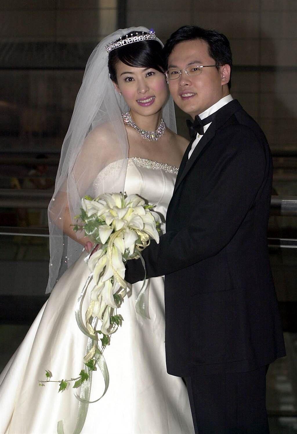 賈永婕2002年閃婚富二代王兆杰。(圖/中時資料照)