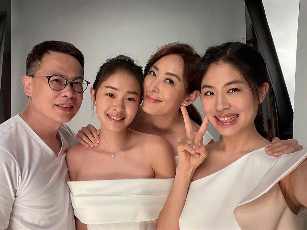 賈永婕和王兆杰育有2女1子。(圖/FB@賈永婕)