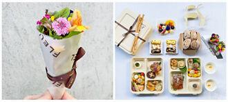 訂了一份餐還收到一束花 鹽之華外帶法式餐盒繽紛浪漫