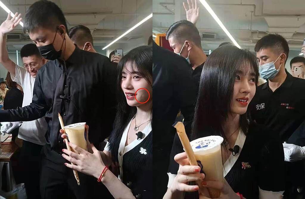 鞠婧禕生圖遭指山根不自然。(圖/翻攝自搜狐娛樂)