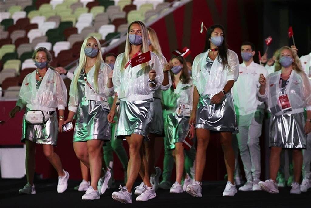 拉脫維亞美女運動員們。(路透)
