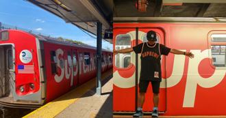 至尊列車出發!紐約地鐵出現 Supreme 列車潮流迷搶打卡