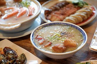 台中「台客燒肉粥」連兩年獲必比登 招牌美食「肉粥」與「大拼盤」