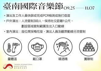 疫情緩 台南國際音樂節9/25如期舉辦 戶外限300人
