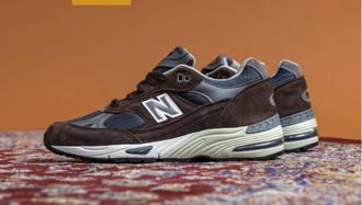 沉穩英倫紳士風,英製New Balance 991最新「Brown/Navy」配色,高質感大地色系迎接秋天